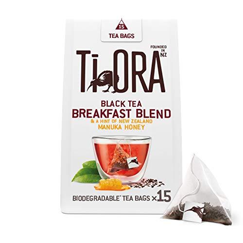 Ti Ora Tee, Schwarzer Tee mit Manuka Honig, 4er Pack, 4 x 15 Pyramiden - Teebeutel