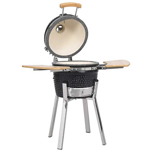 vidaXL Kamado Barbecue BBQ Grill Smoker Quick Fire Lighter Ceramic 81cm Stainless Steel