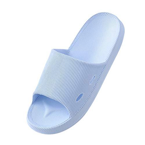 Yowablo Hausschuhe Damen Dusche Pool Hausschuhe Weiche ultraleichte Badewanne (41,Blau)