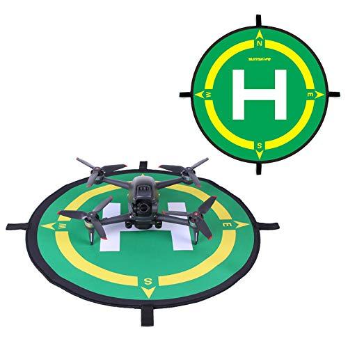DJFEI Pista Aterrizaje FPV Combo Drone, 50cm Universal Waterproof Impermeable Helicoptero Plegable Portátil Landig Mat para dji FPV Combo/Mavic Mini 2/ Mavic Air Drone Series
