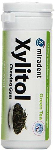 Miradent Xylitol Kaugummi Grüner Tee 30 Stück, 4er Pack (4 x 30 g)