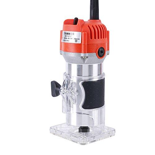KKmoon Fresatrice Orizzontale 650W 30000 RPM - Lavorazione del Legno Macchina per Rifilatura Elettrica Incisione Elettromeccanica Fresatrice per Legno Macchina per Il Taglio del Rame