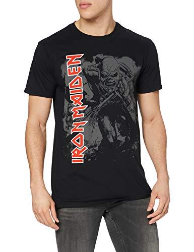Iron Maiden Hi Contrast Trooper T-Shirt, Nero(Black), L Uomo