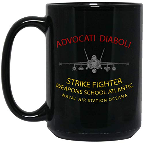 Strike Fighter Weapons School Atlantic, NAS Oceana F-18 Taza de 15 oz