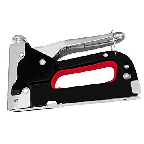 Obelunrp Hefter 3 in 1 Metall-Hochleistungs-Manual-Hefter tragbarer DIY-Stapel-Werkzeug für Holz Polster Handwerk Fixiermaterial Tragbare elektrische Geräte