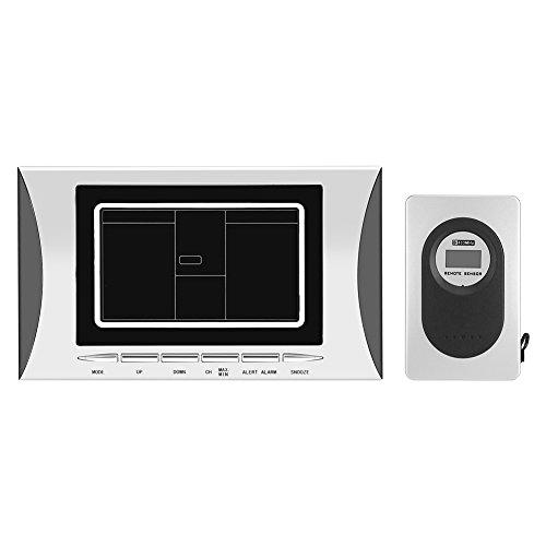 LCD Digital reloj estación meteorológica humedad temp sensor alarma funciona con pilas reloj termómetro higrómetro de pantalla con al aire libre más remotos Sensor