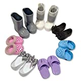 PZAS Toys 7 Doll Shoes - Fits American Girl Doll - 5 Pairs Doll Shoes,and 2 Pairs Doll Boots for 18' Dolls