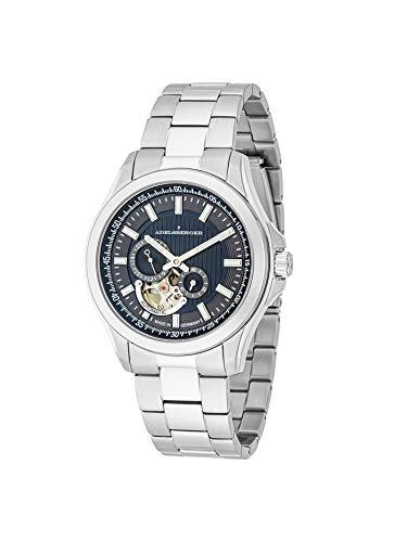 ADELSBERGER Reloj de hombre Meisterzeit plateado | Reloj de hombre | Automático | Plateado