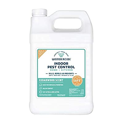 Wondercide Natural Indoor Pest Control Spray for Home and Kitchen — Fly, Ant, Spider, Roach, and Bug Killer and Repellent — 32 oz Cedarwood