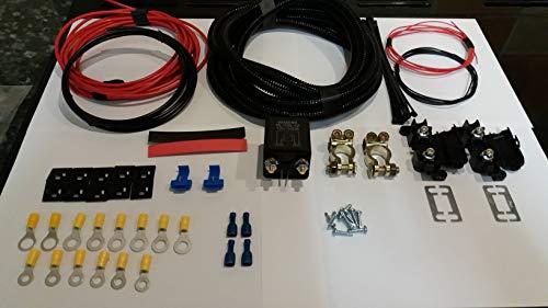 Cable de alimentación de carga separada de 7,5 m, 12 V, 100 A, kit para furgoneta