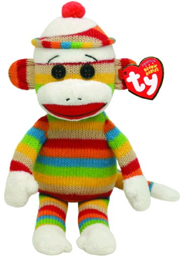 Ty Beanie Babies Socks Monkey (Stripes)
