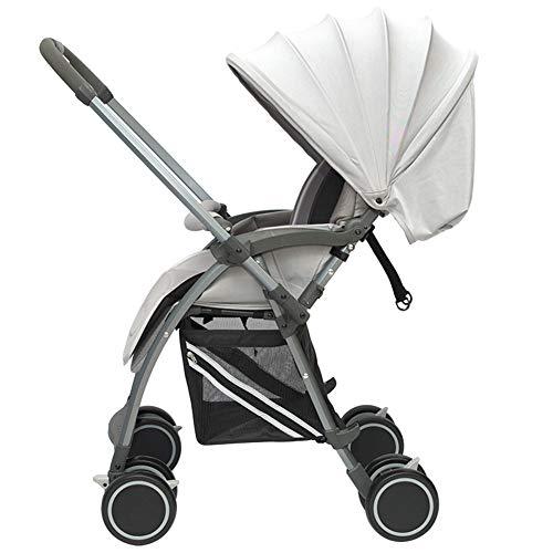 Poussette Canne Ultra compacte Pliable Landau bébé - Parapluie Pliant Compact - Siège d'enfant - Siège inclinable - Face Parents - du Premier au 36 Mois