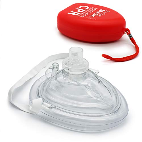 AIESI® Pocket Mask maschera di rianimazione per respirazione bocca a bocca professionale # CPR Mask Resuscitator
