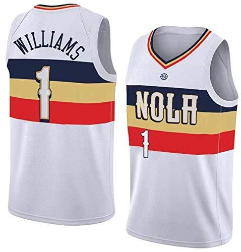 WSUN Baloncesto NBA Camiseta para Hombre Pelicans 1# Zion Williamson NBA Camisetas Sin Mangas Trajes De Competición Deportiva Al Aire Libre Chaleco De Baloncesto,S(165~170CM/50~65KG)