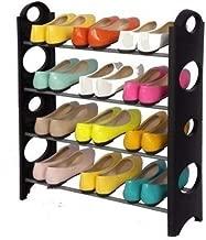 ELECTROPRIME Foldable Shoe Rack with 4 Shelves (Plastic Rod)