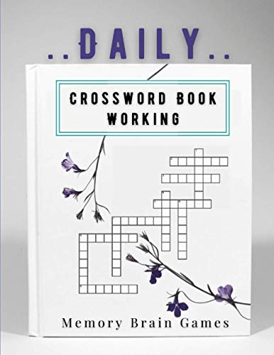 Daily Crossword Book Working Memory Brain Games: The Best Ever Book Of Word Search Very Easy Crossword Puzzle Books, Zigzag Word Search Active Games ... Buster Puzzles For Adults Entertain Elderly