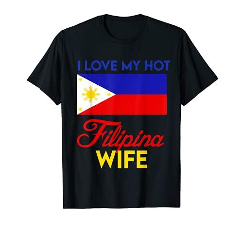 I love my hot filipina wife - filipino pride map flag T-Shirt