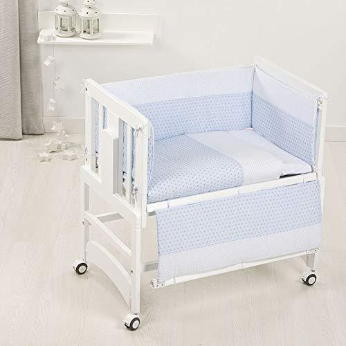 Bolin Bolon BO9072443112 Cuna Allegra blanca 5 en 1 + textil azul angy