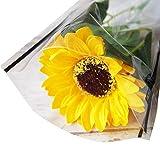 ソープフラワー1輪ブーケ ひまわり 花束 材料 花材 造花 シャボンフラワー 1輪 送別 お祝い イベント 卒園 卒業