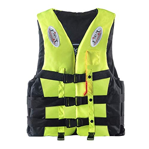 Rainlin Life Vest for Adult, Adjustable Kayak PFD Life Jackets, Plus Size Jet Ski Stearns Swimming Equipment Life Jacket for Buoyancy Fishing Boating Watersport Men Women
