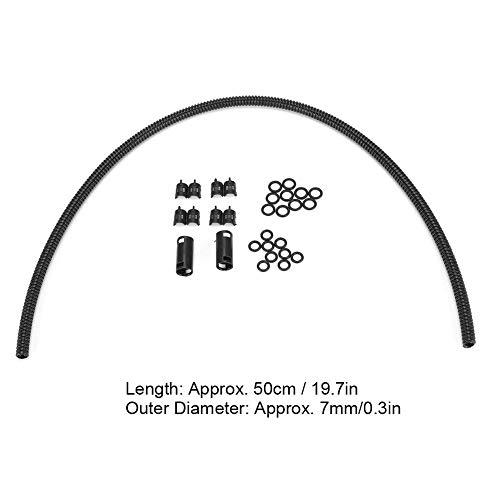 Kit de manguera de limpiaparabrisas, 50 cm, 19,7 pulgadas, parabrisas de coche, rociador, boquilla, manguera de repuesto, conector de tubo corrugado, kit de boquillas, piezas universales