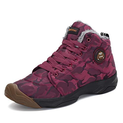 Stivali da Neve Uomo Trekking Scarpe Inverno Outdoor Pelliccia Sneakers