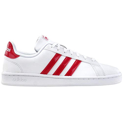 adidas Originals Womens Grand Court Lace Up Sneakers Shoes Casual - White - Size 5 B