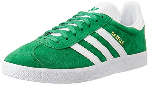 adidas Herren Gazelle Sneaker, Grün (Green/White/Gold Met), 45 1/3 EU