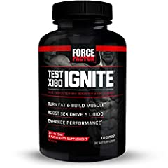 BOOST SEX DRIVE & LIBIDO: Increasing free testosterone is the answer for men who want to get in shape and boost libido. Test X180 Ignite contains Testofen to help you feel like a superhero again. BURN FAT & BUILD MUSCLE: Not only will Test X180 Ignit...