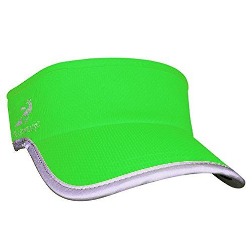 Headsweats Visiera Riflettente Supervisor ad Alta visibilità, Unisex - Adulto, HSWSR, Verde Fluo, Taglia Unica
