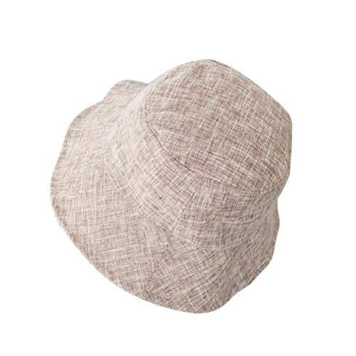 FENICAL Japanischen Stil Eimer Hut Allgleiches Sonnenhut für Mädchen Frau Lady Khaki