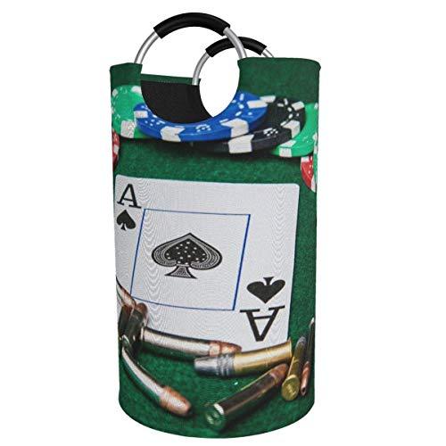N\A Cesto de lavandería Grande de 82 l, Juego con Balas - Cesto de Ropa Plegable de Tela Ace, Bolsa de Ropa Plegable, cesto de Almacenamiento Plegable para lavadero