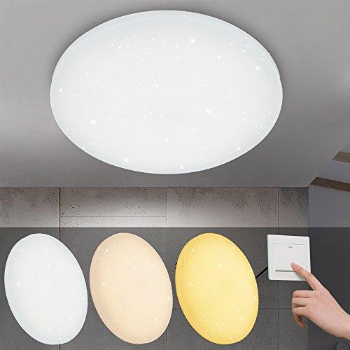VINGO® 16W LED Deckenleuchte Farbwechsel 3in1 Starlight Effekt Schön Rund Korridor Deckenlampe Wand-Deckenleuchte Badezimmer geeignet