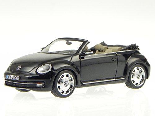VW Beetle Cabrio schwarz deep black perleffekt Modellauto Schuco 1:43