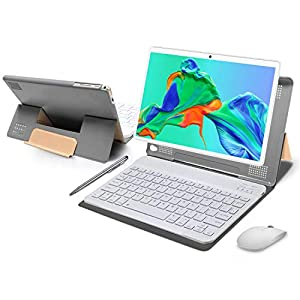 Tablet 10 Pulgadas 4GB de RAM 64GB de ROM Android 10 Certificado por Google GMS Tablet PC Baratas y Buenas Batería 8000mAh Quad Core 4G Dual SIM 8MP Cámara Netflix WiFi Bluetooth GPS OTG(Oro)