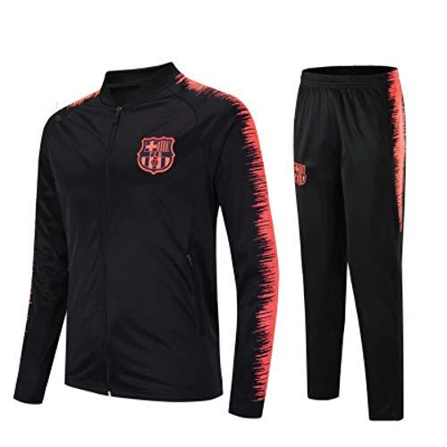 XunZhiYuan Club Langarm Trikot Fußball Anzug Anzug Teamspiel Wettbewerb Full Zipper Trainingsanzug, S, 2