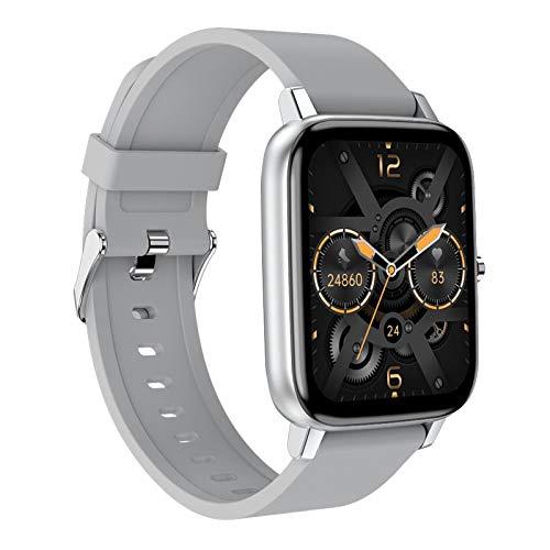Non-brand Reloj inteligente H80 con podómetro, presión arterial, deportivo, impermeable, pantalla táctil de 1,69 pulgadas, gris plateado