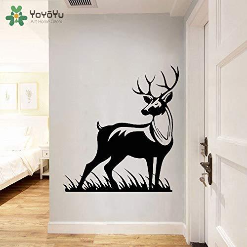 zhuziji Waldtier Wand Zitat Aufkleber entfernbare Aufkleber Wohnzimmer Mädchen Junge Zimmer Natur Tier 46x42cm