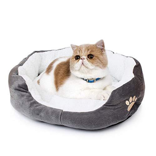 Westeng 1 Stück Ultra-weiche Baumwolle Welpen Nest Katzenbett, Kleine Haustierbett Teddy Kennel waschbar,50 x 40 x 15 cm - 5