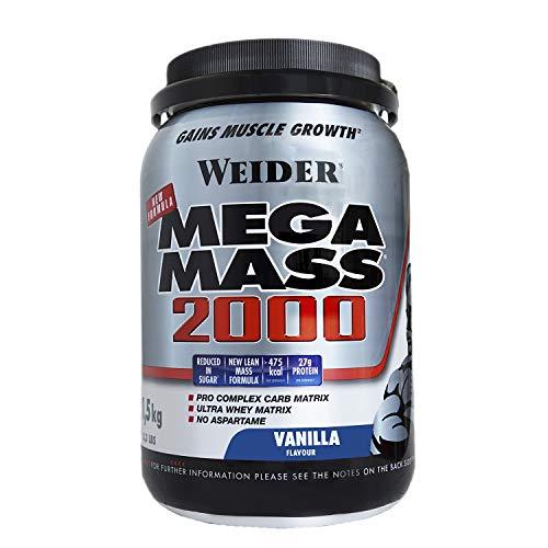 Weider Mega Mass, 1,5Kg Gusto Vaniglia - 1500 Gr