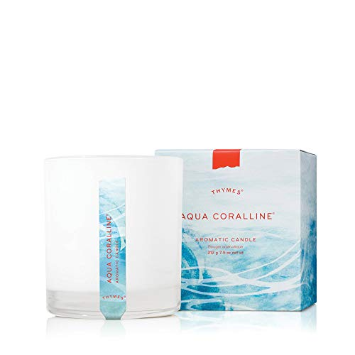 Thymes Aromatic Candle - 7.5 Oz - Aqua Coralline