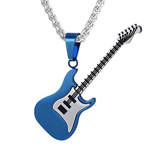 Cadenas Azules Colgantes Guitarra Clásica Eléctrica de Rock Material Acero Inoxidable 316L...