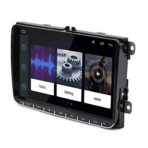 Sat Nav para VW Pa SS en Golf MK5 MK6 Sat NAVHead Unit Android 8.1 Single DIN Auto Radio Navegación GPS Pantalla táctil HD de 9 Pulgadas WiFi Bluetooth