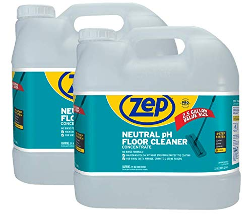 New Size! Zep Neutral pH Floor Cleaner 2.5 Gallon (Case of 2) Concentrated Pro Trusted All-Purpose Floor Cleaner with No Residue, now in a convenient size! - ZUNEUT320