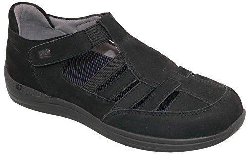 Drew Shoes Maryann Women's Therapeutic Diabetic Extra Depth Shoe: Black/Nubuck 9.5 Wide (D) Velcro