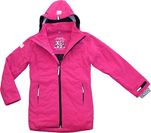 EXES Softshelljacke Softshell-Kurzmantel Jacke / Mantel - wasserdicht, winddicht und atmungsaktiv für Mädchen (152-158)
