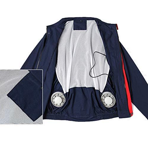 Koel- en verkoelende kleding voor mannen buitenshuis, hitteslagwerkkleding op hoge temperatuur, geschikt voor avonturen buitenshuis, toerisme, elektrisch lassen