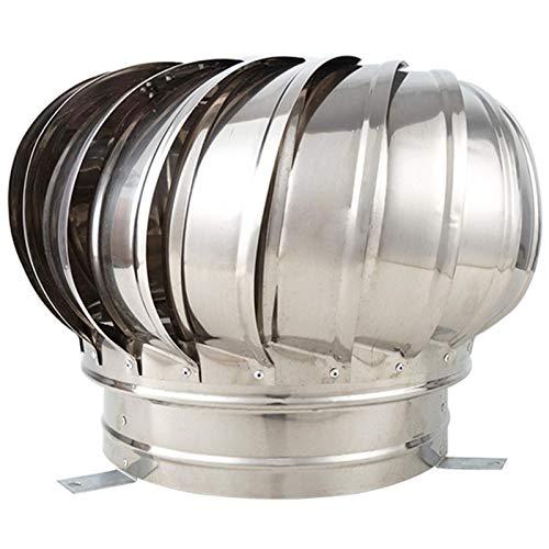 FZYE Tapa de Campana giratoria para Chimenea, Campana de ventilación de Acero Inoxidable, giratoria giratoria antivaho, para chimeneas y Rejillas de ventilación, ollas de Chimenea, cubi
