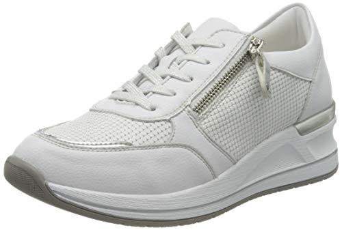 Remonte Damen D3201 Sneaker, Weiß (Weiss/Argento/Weiss-Silber 80), 36 EU