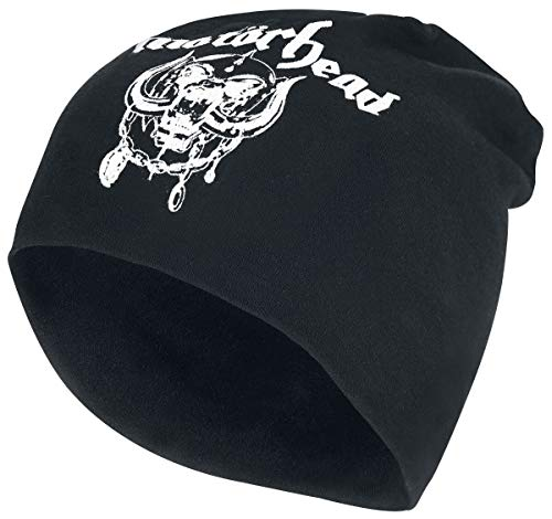 Motörhead England - Jersey Beanie Unisex Mütze schwarz 100% Baumwolle Band-Merch, Bands